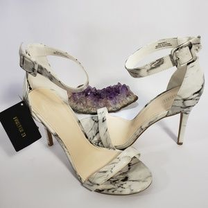 Forever 21 White Marble Heels NWT